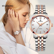 STARKING Watch Women Automatic Self wind Analog Ladies Waterproof Stainless Steel Wristwatch 5atm Female Relogio Feminino AL0194