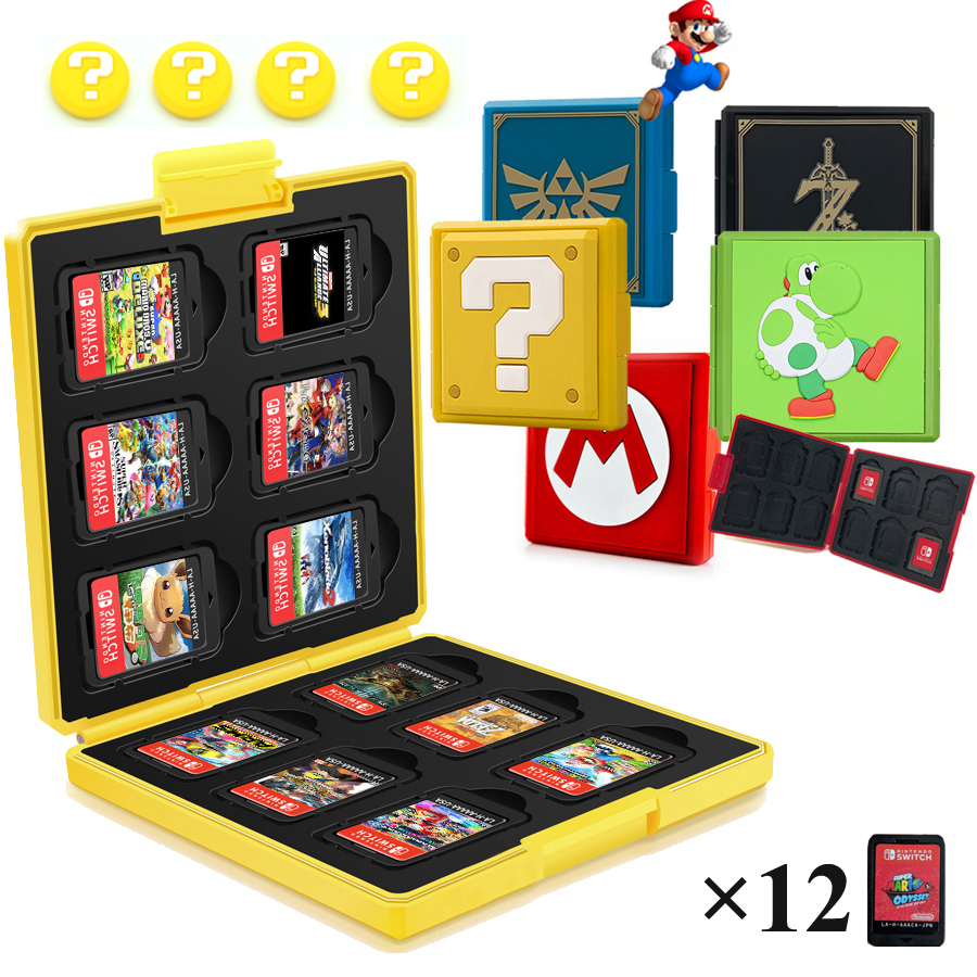 12 in 1 Nintend Switch Game Card Case Pattern Hard Protective Cover Storage Box for Nitendo NintendoSwitch Nintendo Accessories(China)