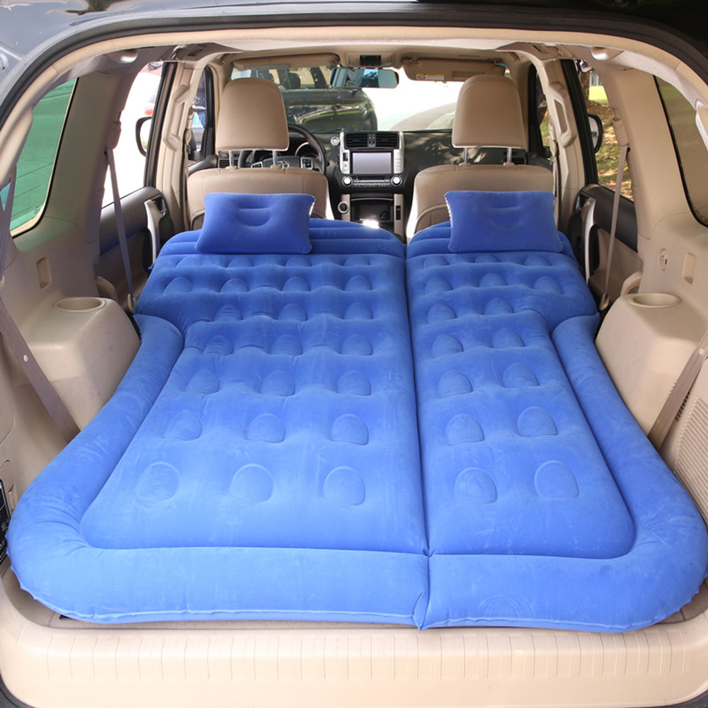 Car Inflatable Bed Air Mattress Universal SUV Car Travel Sleeping Pad Outdoor Camping Mat Child Rear Exhaust Pad Car Rear Seat