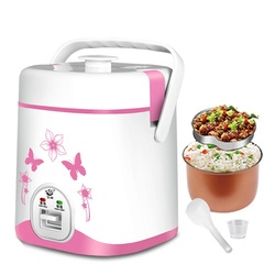 200w power, AC110V/AC220-240V 50-60Hz, 1.2L  capacity mini rice cooker, heating lunch, electric heating lunch box