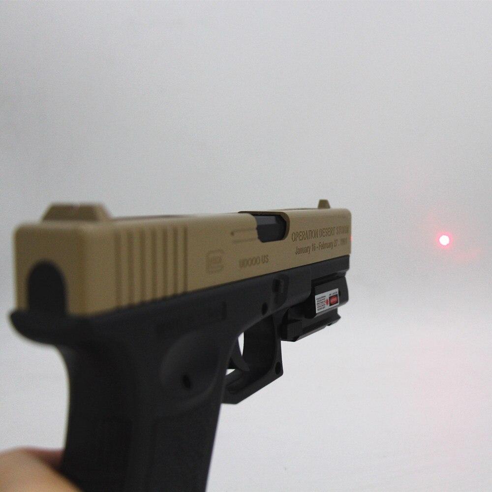 Tactical Red Dot Laser Sight for glock 17 19 colt1911 Beretta M9 sigsauer Pistol Airsoft Gun Sight laser Scope 20mm rail laser-5