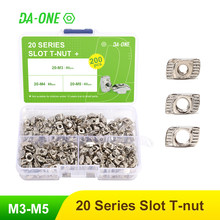 65/150/200 Pcs T-Nut Set Hammer Head T Nut Kit M3 M4 M5 Connector Nickel Plated For 20 Series Aluminium Profile Accessories