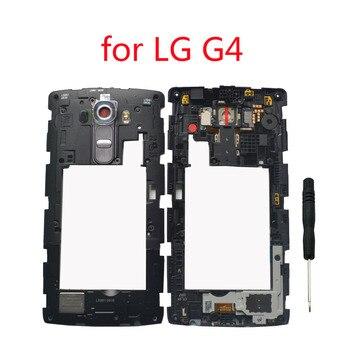 Корпус камеры стеклянный объектив динамик для LG G4 H815 H810 F500 VS986 оригинальный телефон средняя рамка Шасси с кнопкой громкости питания
