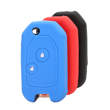 Bilchave 2 Buttons Silicone Remote Flip Car Key Case Cove Fob For Honda Civic Accord Pilot Fit Crv Crosstour Insight Cr-z