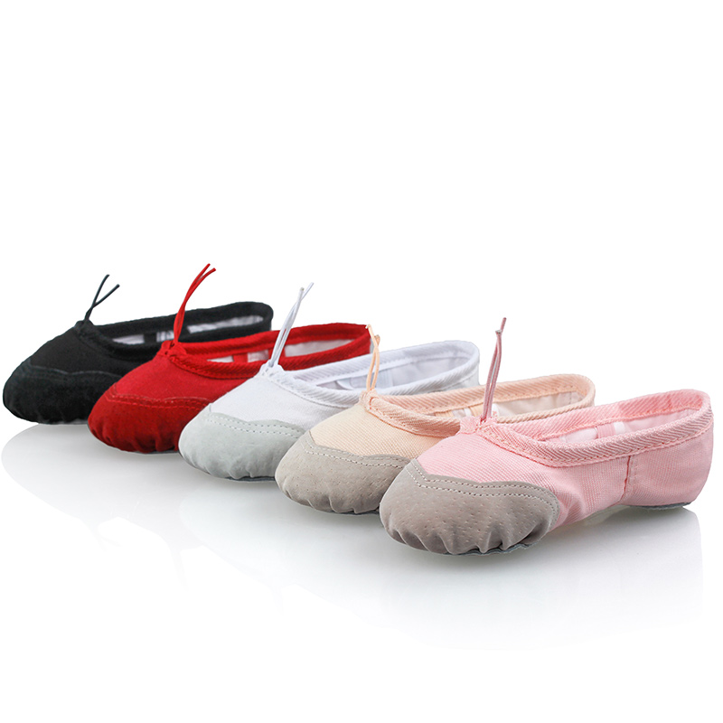 Breathable Women Girls Zapatos Ballet Bailarina Dance Pointe Shoes For Kids 23-42 Pink Black Nude Red White Ballerina Shoe