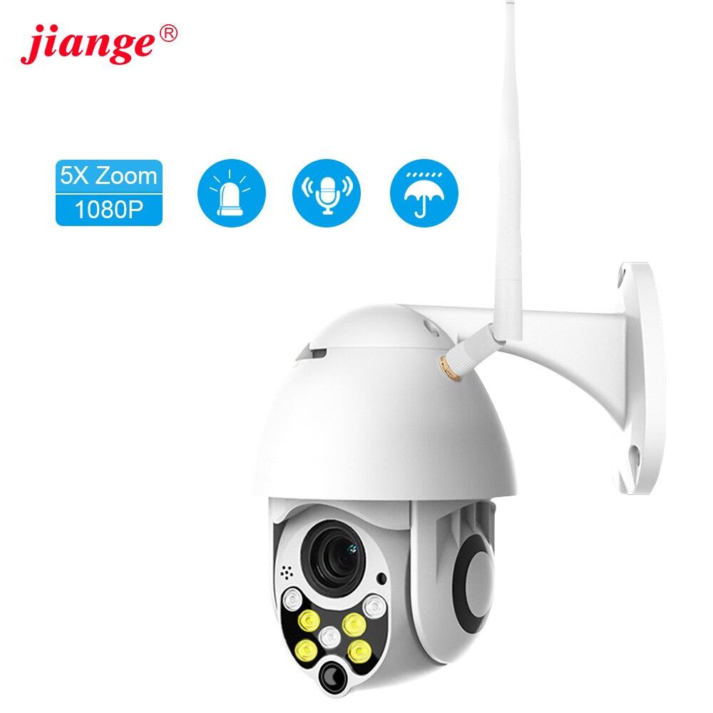 Jiange Ip Camera  Outdoor  Wifi 1080P 5X Digital Wireless Zoom PTZ IR Waterproof Audio Surveillance Camera Ycc365plus