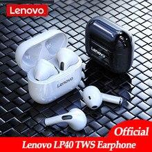Original Lenovo LP40 drahtlose kopfhörer TWS Bluetooth Kopfhörer Touch Control Sport Headset Stereo Ohrhörer Für Telefon Android