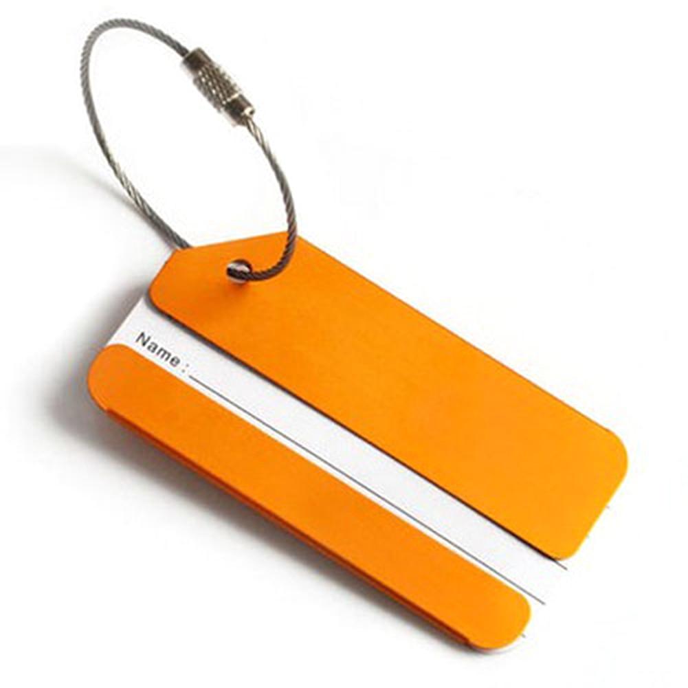 NEW Aluminium Travel Luggage Baggage Tag Suitcase Identity Address Name Labels Travel Personalised Tag Secure Wholesale