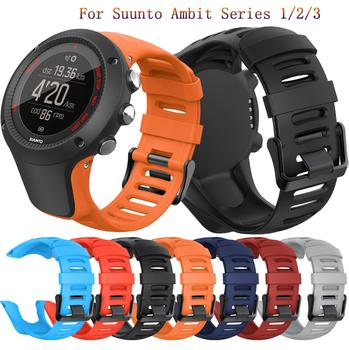 24mm fashion Soft Silicone Strap For Suunto Ambit Series 1/2/3 Watchband For SUUNTO AMBIT 1/2/2S/2R/3P/3S/3R classic Watch Bands for suunto core series watch milanese strap high quality stainless steel watchband 24mm adapter