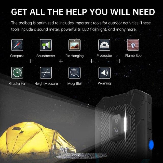 Oukitel WP12 Rugged IP68/69K SmartPhone 4GB+32GB 4000mAh Quad Core Android11 Mobile Phone 5.5'' HD+500W/1300W 13MP Camera Phone 5