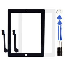 Touch Screen For iPad 3 iPad 4 iPad3 iPad4 A1403 A1416 A1430 A1458 A1459 A1460 LCD Outer Digitizer Sensor Glass Panel Replacemen