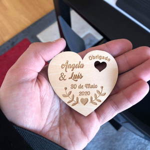 Image 2 - Personalized Wedding Laser Heart Save the Date Magnets,Custom wood rustic save the date,party favors gifts