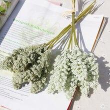 6 peças/paco pe lavanda barato flor artificial por atacado decoração de parede buquê material manual diy vaso para casa