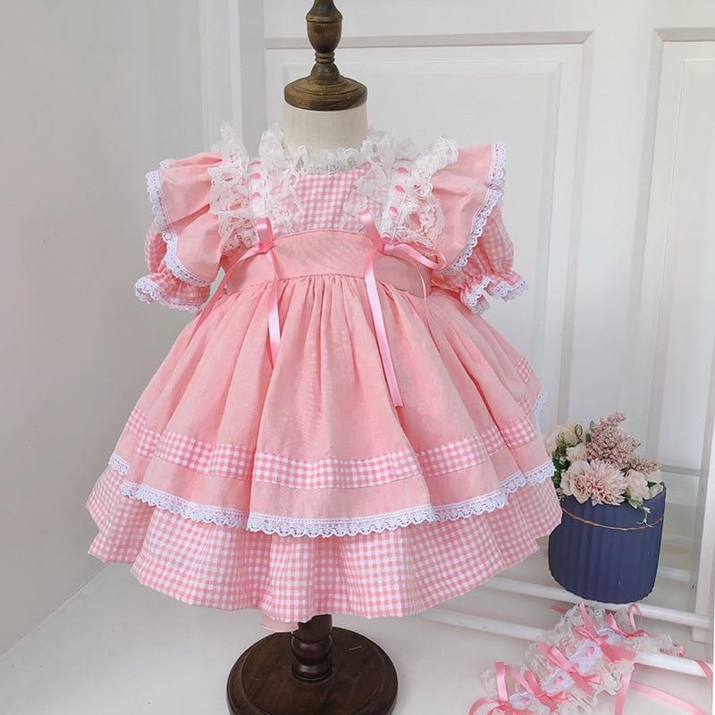 2020summer Japanese Girl Lolita Hair Band+dress+pumpkin Pants Princess Dress Kids Dresses for Girls Holiday Party Wedding Dress