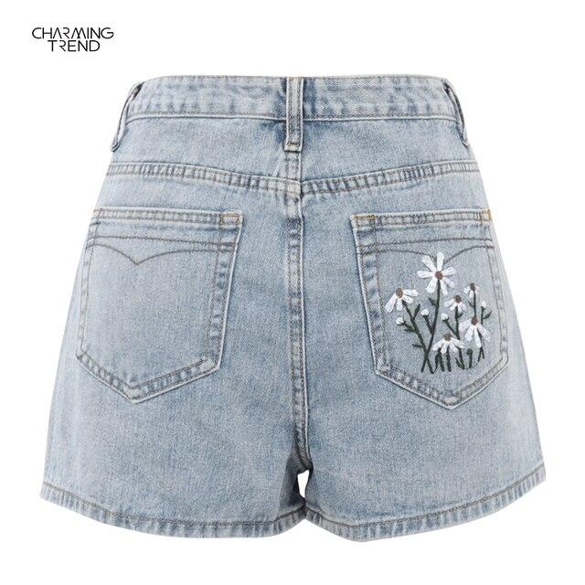 2021Summer Casual Shorts Female High Waist Shorts Fashion Women's Denim Shorts Boyfriend Style Denim Shorts Women's Shorts Denim 3
