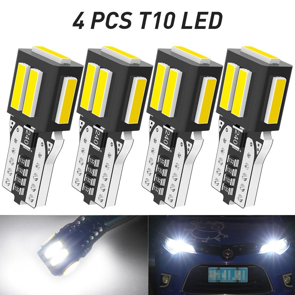 4 предмета в комплекте с can-bus T10 W5W светодиодный светильник без ошибок автомобильный габаритный фонарь для Toyota Camry Corolla Prius Venza Tacoma Auris Rav4 Land Cruiser