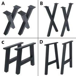 Pata de escritorio de mesa de centro de comedor industrial de 16 pulgadas y 28 pulgadas, conjunto de 2 muebles de Metal y acero con forma trapezoidal o en forma de X