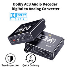 AC3 192kHz HiFi Audio-Decoder DAC With Volume Control Optical Coaxial RCA 3.5mm Digital to Analog Audio Converter Adapter DA500(China)