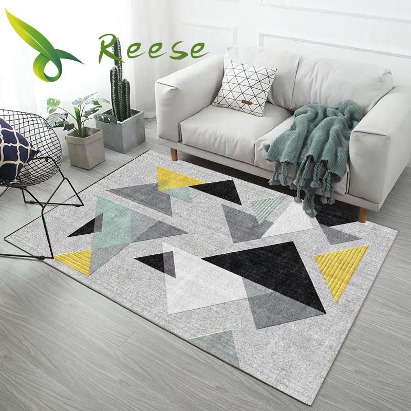 Carpet Ins Abstract Geometric Non Slip For Room Entrance Bedroom Kitchen Bathroom Washable Mildew Proof Safety Floor Protection