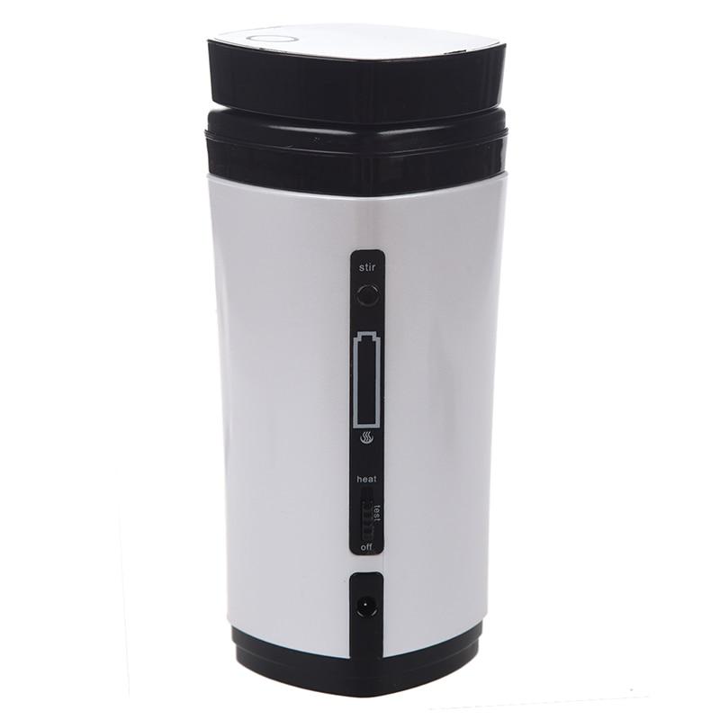 ELEG Rechargeable USB Powered Coffee Tea Cup Mug Warmer Automatic Stirring (White)|Tea Strainers| |  - title=