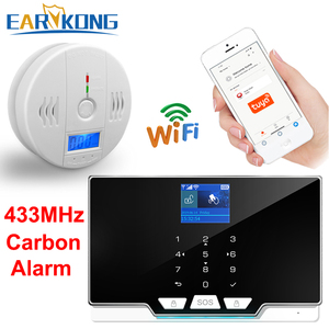 433MHz Wireless Carbon Monoxide GAS Detector Home Burglar Alarm System CO Carbon Monoxide Poisoning Warning Alarm Detector