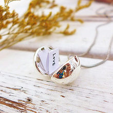Fashion Secret Message Locket Necklace Silver Gold Ball Pendant Necklace Romantic Love Heart Confession Long Necklace Jewelry(China)