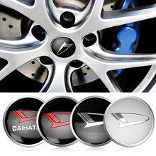 Estilo do carro 4 pçs 56mm roda auto centro hub tampas emblema tampas etiqueta para daihatsu decoração acessórios