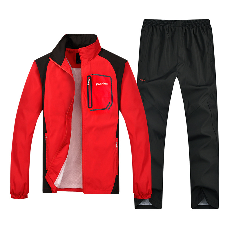New Style Spring And Autumn Thin MEN'S Sportswear Plus-sized Sports Set MEN'S Suit Two-Piece Set Customizable