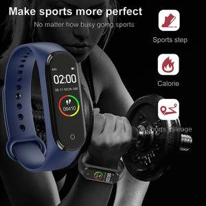 Image 2 - M4 צמיד דיגיטלי שעון גברים עמיד למים ספורט צמיד טלפון Bluetooth קצב לב צג כושר צמיד עבור אנדרואיד IOS