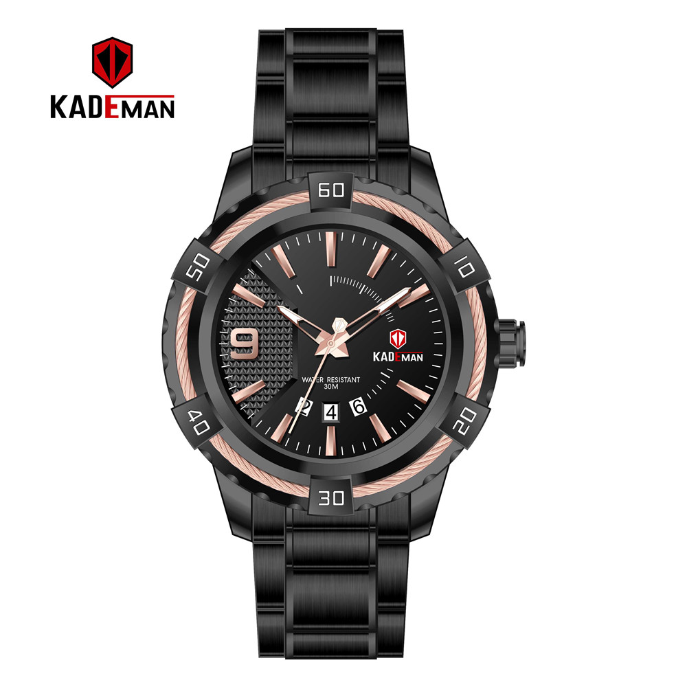 Image 2 - KD6173L Top Luxury Brand Kademan New Womens Business Watch Full Steel Strap Fashion Lady Quartz Calendar Wristwatch WaterproofWomens Watches   -