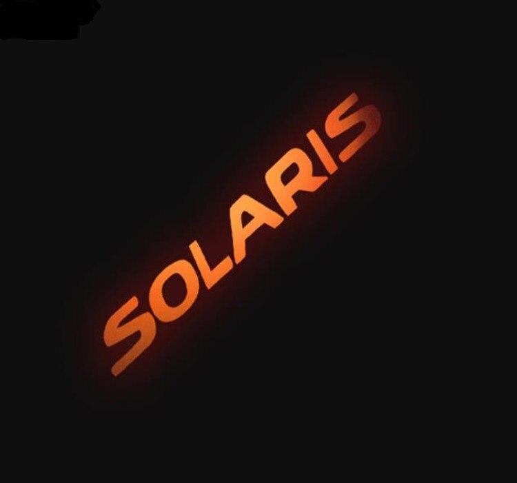 Carbon Fiber Rear Braking Light Decoration Cover Stickers Case For Hyundai Solaris Car Styling Additional Brake Lights Sticker
