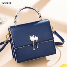 ZOOLER hot Ladies Fashion Tote Genuine Leather Luxury Handbags tote Bags Elegant Female Messenger Crossbody Purse#jy201