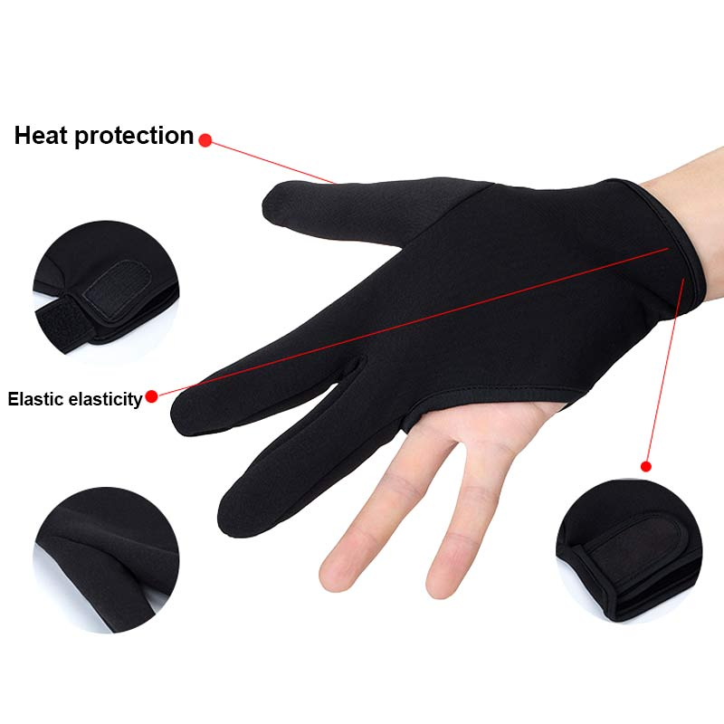 Barber Hairdressing Three Fingers Glove Heat Resistant Finger Protect Hair Straightening Curling Styling Accessories EY669 image