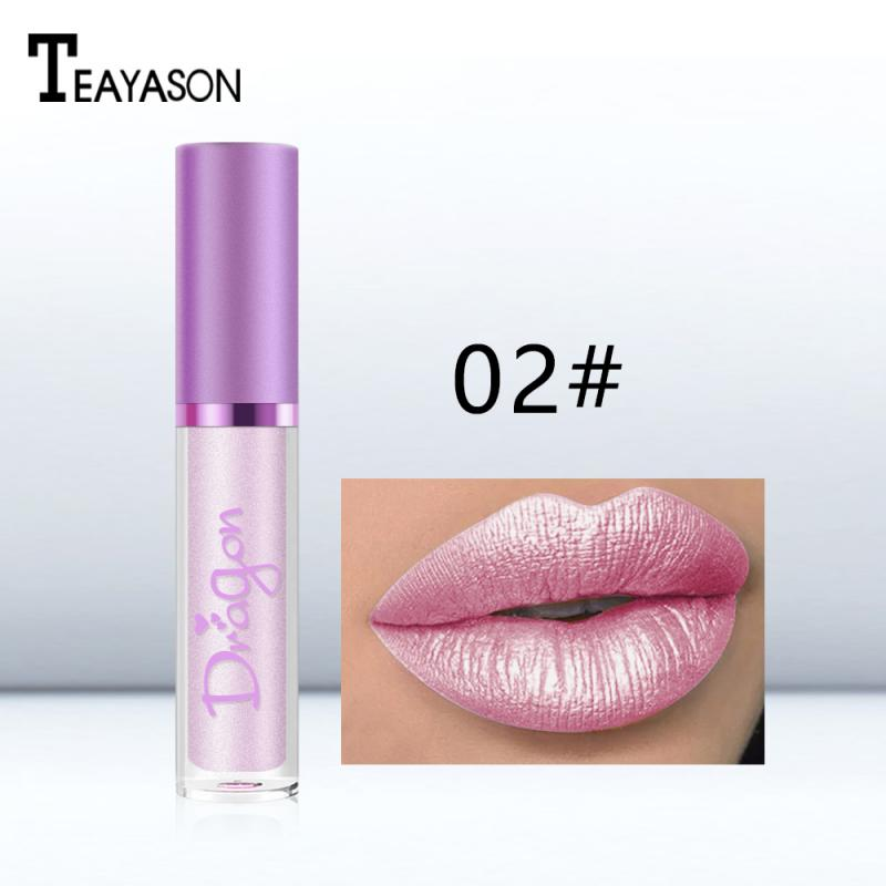 TEAYASON Lip Gloss Lipstick Makeup Maquiagem Flash Lip Glaze Pen Diamond Shiny Bright 6 Color Pearlescent Smooth Cosmetics TSLM2