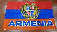 Johnin 90x150cm armenii godło narodowe flaga