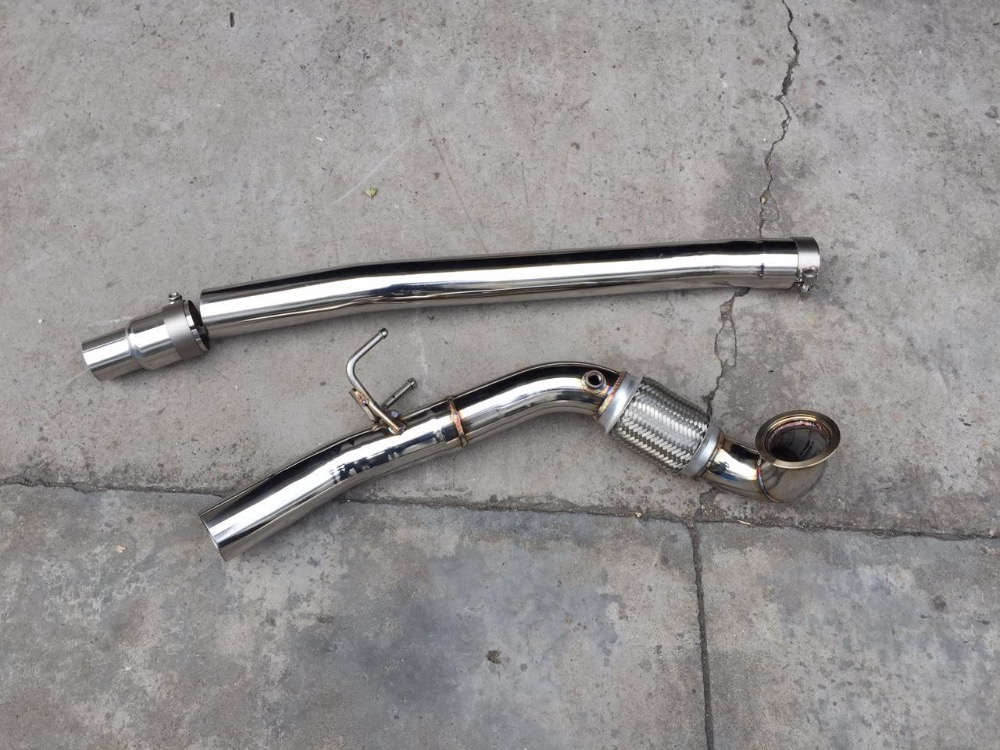 3 Inch Catless Turbo Donw Pipe Exhaust Pipe For Vw Golf Mk7 R20  Audi S3 Tt Tts