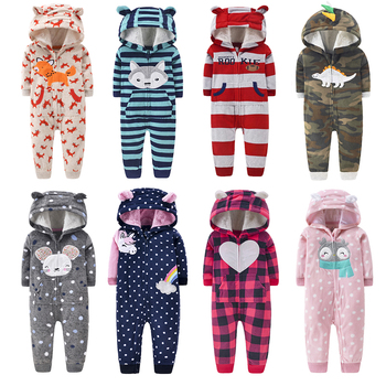 2021 Newborn Baby Winter Hoodie Clothes boys Baby clothing Girl 9m-24m Boy Jumpsuit christmas baby Romper warm clothing for kids 2020 newborn baby winter hoodie clothes boys baby clothing girl 9m 24m boy jumpsuit christmas baby romper warm clothing for kids
