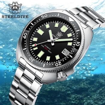 SD1970 Steeldive Brand 44MM Men NH35 Dive Watch with Ceramic Bezel 1