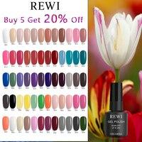 REWI-esmalte de Gel de uñas UV LED, laca de Color brillante, lámpara para salón, botella de plástico, capa base mate