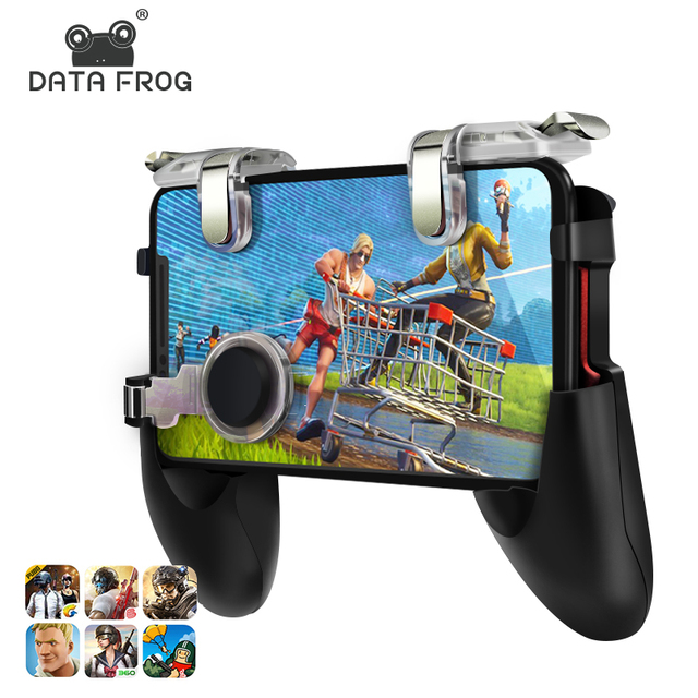 Rana de datos para Pubg Game Gamepad para teléfono móvil controlador de juegos l1r1 Shooter Trigger Fire Button para IPhone For Free Fire