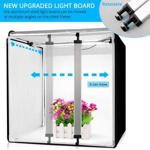 Image 4 - 60*60*60cm Photo Studio Light Box Portable Softbox Photo Tent White Background LED Lightbox for Photography Product Shooting