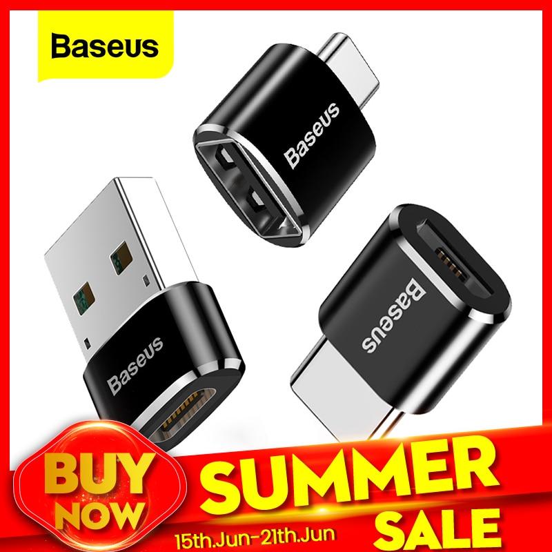 Адаптер Baseus USB для Type C OTG USB USB C штекер Micro USB Type c Женский конвертер для Macbook Samsung S20 USBC OTG коннектор|Переходники и адаптеры|   | АлиЭкспресс - Топ товаров на Али в мае
