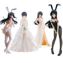 Corpo macio rascal não sonha com coelho menina senpai sakurajima mai sexy anime pvc figura de ação brinquedo coleção modelo boneca presentes