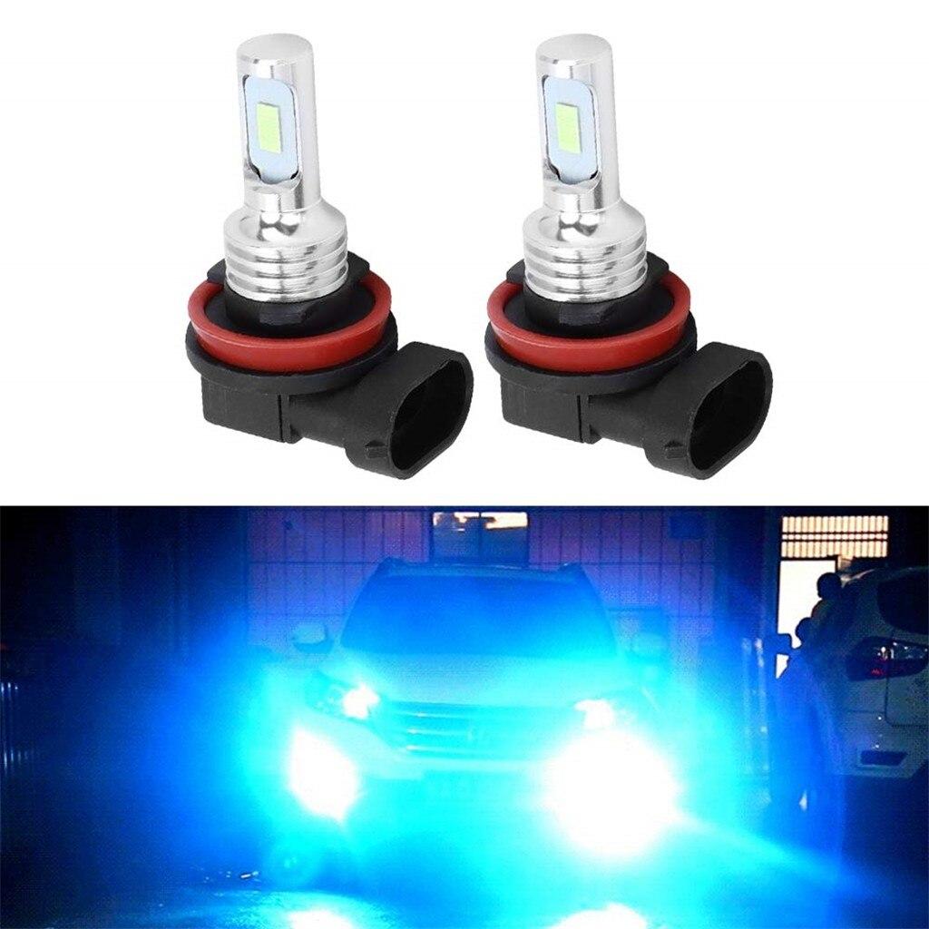 H-8 H11 80 Вт светодиодные лампы Led противотуманная фара для автомобиля Ice Blue фары 8000k 80w 1100lm 2 шт. дневные дальнего света белый голубой лед H27w/2 # yl1