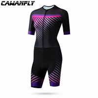 Triathlon Suit Men Cycling Clothing Pro Team Skinsuit Jumpsuit Maillot Cycling Jersey Ropa Ciclismo Bike Sports cawanfly pink