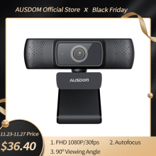 Ausdom AF640 Full Hd 1080P Webcam Autofocus Met Noise Cancelling Microfoon Web Camera Voor Windows Mac