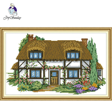 Joy Sunday,Villa,cross stitch embroidery kit,Scenery pattern cross stitch,Needlework counted cross-stitch patterns,cross
