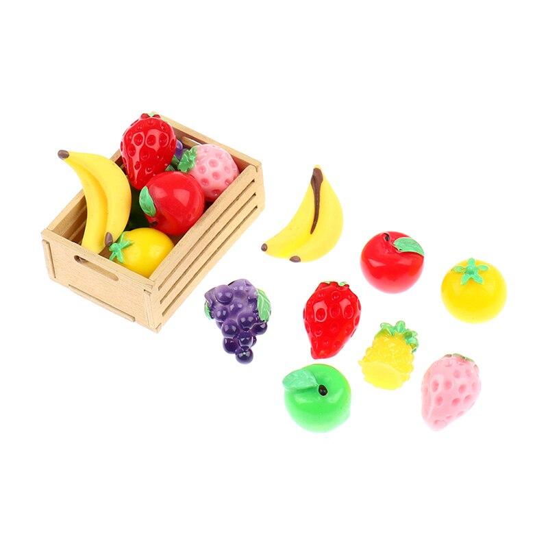 6 unids/lote 1:12 escala Dollhouse frutas verduras alimentos miniatura Mini de tomate para la cocina juguetes de los niños