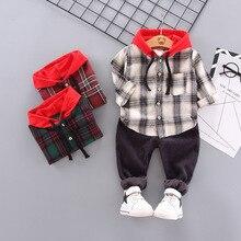2019 Fashion Lattice Hoodie Sport Active Kid Suit In Children Autumn