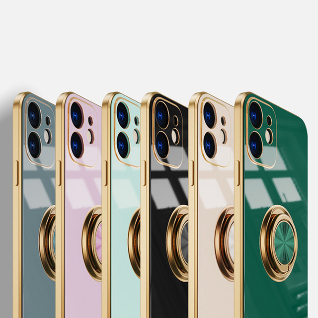 Original Silicone Cover For iPhone 12 12 Pro Max 11 Pro Max Case For iPhone 12 mini luxury Plating Phone Case for iphone11 Cover 5